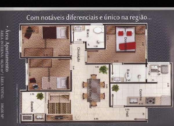 Ref. OP091 - planta do apartamento